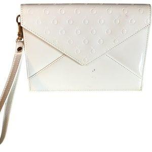 Clutch Embossed Envelope Clutch/Wristlet